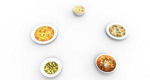 3D soup food model