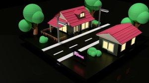 3D walking night
