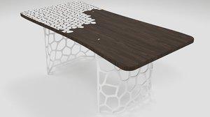 3D dining table smart modern model