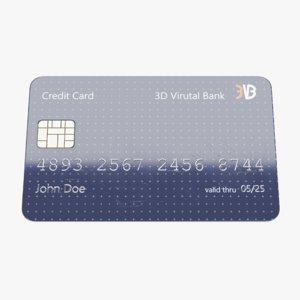 3D credit card 3