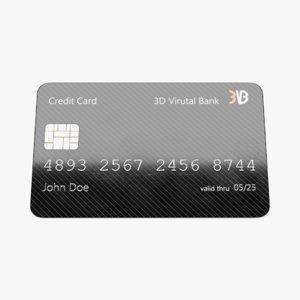 3D model credit card 5