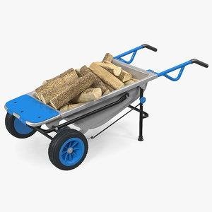 3D model garden cart firewood