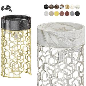 3D washbasin jacqueline longhi