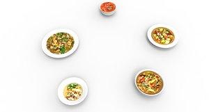 3D soup food
