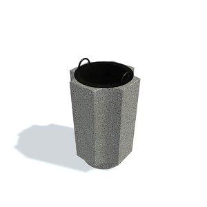 3D refuse bin c