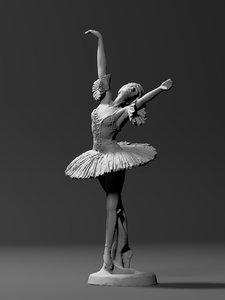 statue ballet dancer 3D model