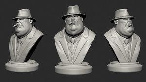 mafia boss bust variations 3D