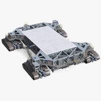 NASA Missile Crawler Transporter Facilities Rigged