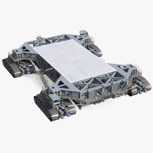 3D nasa missile crawler transporter