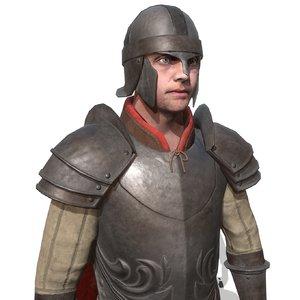 3D guard character
