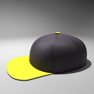 flat brim hat 3D model