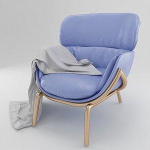 3D armchair modern model