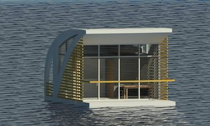 small floating house 3D