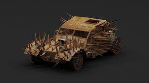 3D mad car