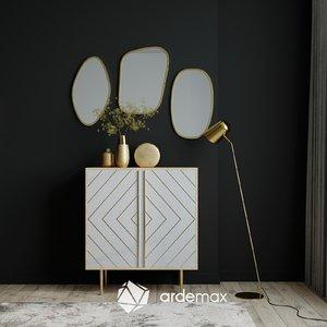3D sideboard mirror model