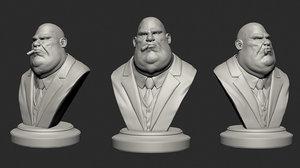 mafia boss bust variations 3D model