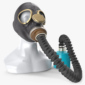 3D military gas mask gp5