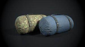 sleeping bag color 3D model