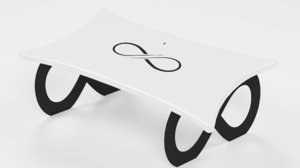 3D coffee infinity table furniture