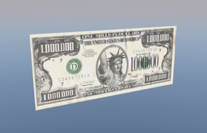 3D 1000000 million dollars cash model