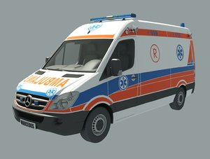 3D ambulance car vehicle