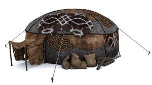 3D nomad tent model