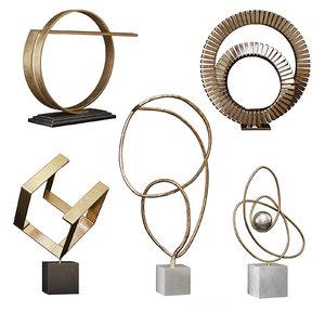 arteriors sculpture set 3D