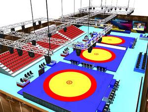 3D wrestle sports hall