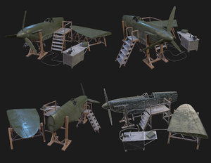 3D model airplane workbench aircraft