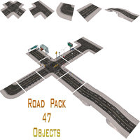 Road Pack Collection 3D Model