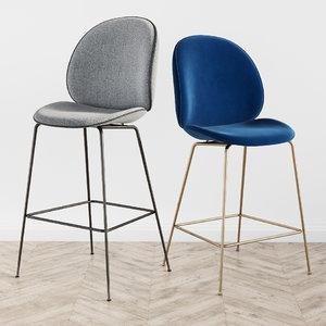 gubi beetle bar stool 3D model