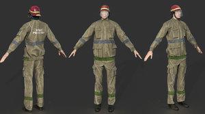 3D character helmet uniform