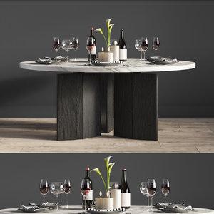 morgan dinning table 3D model