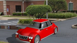 3D popo red car