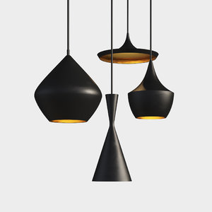 beat light chandelier set 3D model