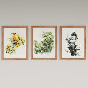 paintings chinese artist zeng 3D model