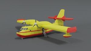 3D canadair cl 215 model