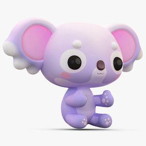 cute cartoon koala 3D model