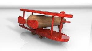 3D model wood toys aeroplanes