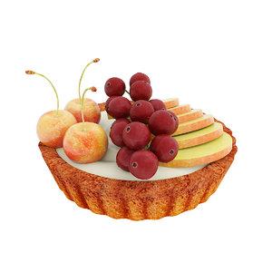 3D tart fruit berry
