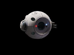 sci-fi battle drone 3D