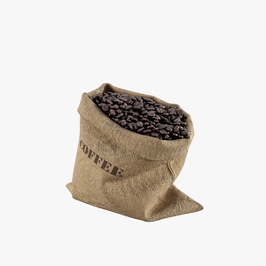 coffee bean burlap 3D