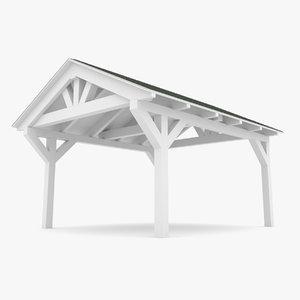 3D wooden carport