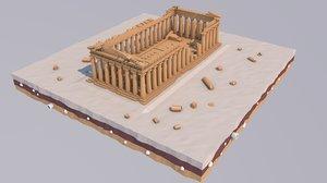 athens landmark parthenon 3D model