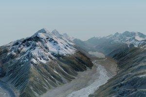 landscape south island new zealand 3D model