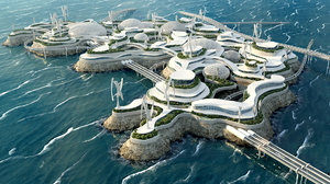city future bionic architecture 3D model