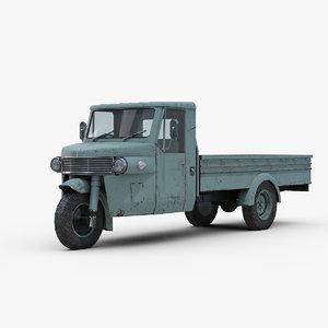 3D model wheeled utility truck