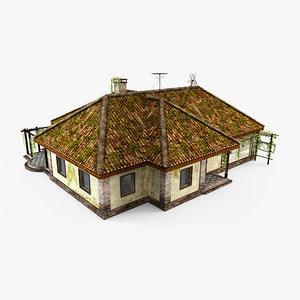 3D abandoned cottage
