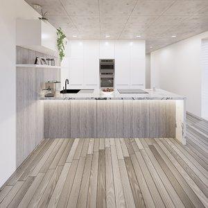 3D create kitchen revit parametric