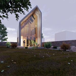 3D family house 4